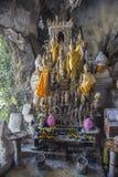 Laos, cave Buddha Stock Photo