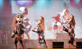 Laos dance show Mask international Festival Stock Image