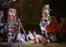 Laos dance show Mask international Festival Stock Photo