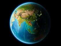 Laos in de avond Royalty-vrije Stock Afbeeldingen