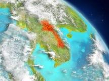 Laos de la órbita stock de ilustración