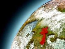 Laos de la órbita de Earth modelo Foto de archivo libre de regalías