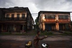 Laos in de tijd van de moesson stock foto's