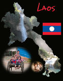 Laos Educational Poster Stock Photography