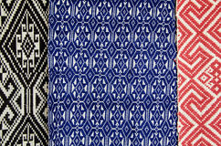 Laos embroidered fabric texture , background. Stock Photography