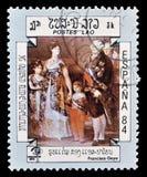 Laos en sellos fotos de archivo