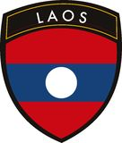 Laos  flag Royalty Free Stock Photography
