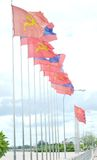 Laos Flag Royalty Free Stock Photos