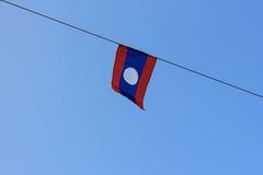 Laos flaga Fotografia Royalty Free