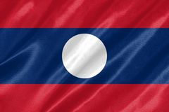 Laos flagga vektor illustrationer