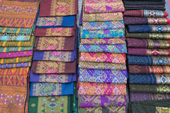 Laos Folk Textile Stock Photos