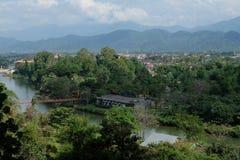Laos från sikt för fågelögon Royaltyfri Foto
