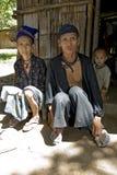Laos hmong człowiek stara kobieta Zdjęcia Royalty Free