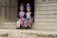 Laos Hmong girl Royalty Free Stock Photo