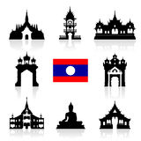 Laos Icon Travel Landmarks. Stock Photography