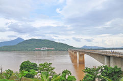 Laos Japanese Bridge Royalty Free Stock Image