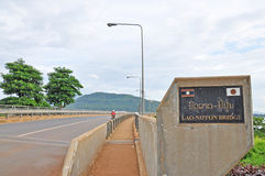 Laos japansk bro Royaltyfri Bild