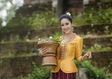 Laos kvinna Royaltyfri Fotografi