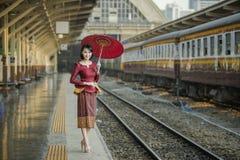 Laos kvinna Arkivbild