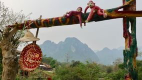 Laos-Land und ?berraschende Natur! gr?ne Berge, gr?n ?berall! lizenzfreie stockfotografie