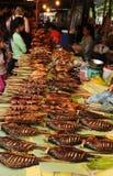 Laos: Luang Prabang jedzenia chiński rynek zdjęcia stock