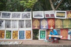LAOS LUANG PRABANG miasteczka rynku STARA sztuka Obrazy Royalty Free