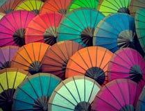 Laos, Luang Prabang Parasole robić papier różni kolory Obraz Stock