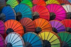 Laos, Luang Prabang Parasols robić naturalni materiały diffe Zdjęcie Royalty Free