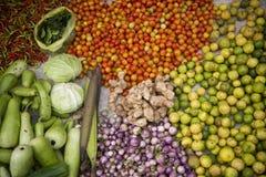LAOS LUANG PRABANG rynku jedzenie Obrazy Stock