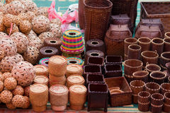 laos luang rynku prabang Fotografia Royalty Free