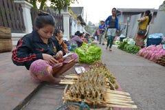 laos luangprabang Royaltyfri Foto