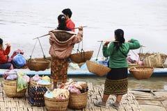 laos luangprabang Arkivfoto