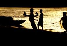 laos mekong flod Fotografering för Bildbyråer