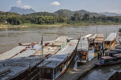 Laos, Mekong river Royalty Free Stock Image