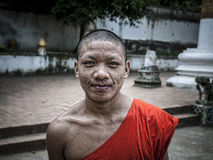 Laos Monk Royalty Free Stock Photography