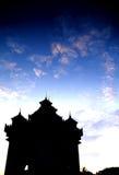 laos monument Arkivbild