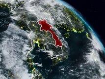 Laos na noite ilustração do vetor
