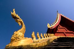 Laos Naga Detail - Vientiane, Laos Royalty Free Stock Photo