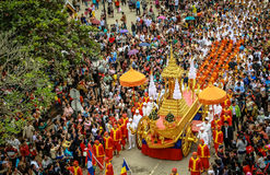 Laos new year culture in Laungprabang Royalty Free Stock Photography