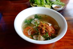 Laos noodle name is Fer. Dilicious menu of Stock Images