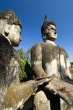 Laos oferuje Vientiane buddha obraz stock