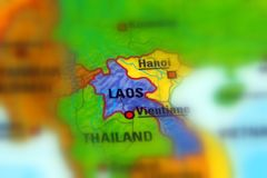 Laos, oficialmente a república Democrática do ` s de Lao People fotos de stock