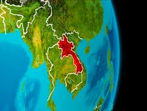 Laos på jord Royaltyfri Foto