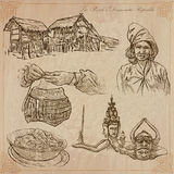 Laos. Pictures of Life. Vector pack. Stock Image