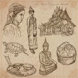 Laos. Pictures of Life. Vector pack. Royalty Free Stock Image