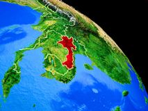 Laos on planet Earth stock illustration