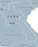 Laos political map Stock Images
