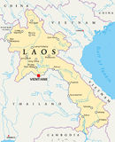 Laos Political Map Royalty Free Stock Images