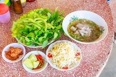 Laos rice noodle set Stock Photo