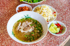 Laos rice noodle set Royalty Free Stock Photography